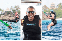 """Barack Obama is solidifying his """"coolest president ever"""" title because he now knows how to kitesurf thanks to Richard Branson. SEE MORE at TMZ.com obama kitesurfing tmz: E Barack Obama is solidifying his """"coolest president ever"""" title because he now knows how to kitesurf thanks to Richard Branson. SEE MORE at TMZ.com obama kitesurfing tmz"""