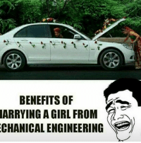 Memes, 🤖, and Acs: e  BENEFITS OF  ARRYING A GIRL FROM .  CHANICAL ENGINEERING  M IN  OR  RE  FE  FL  LN  TGN  EGA  NNC  BYN  RA  RH  AC Apni Jindagi mein kaha aisa sukh 😩😂