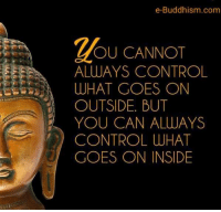 memes: e-Buddhism com  OU CANNOT  ALWAYS CONTROL  WHAT GOES ON  OUTSIDE. BUT  YOU CAN ALWAYS  CONTROL WHAT  GOES ON INSIDE