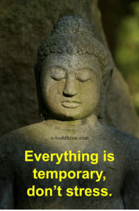 Memes, Buddhism, and 🤖: e-buddhism com s  Everything is  temporary,  don't stress.