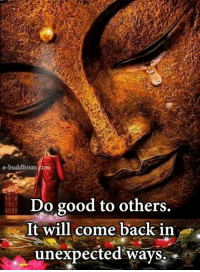 Buddhism: e-buddhism  Do good to others.  It will come back in  unexpected ways.