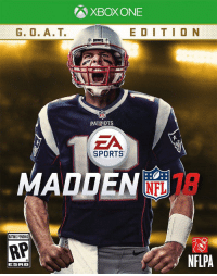 Memes, Nfl, and Sports: E DITIO N  NFL  PATRIDTS  ZA  SPORTS  MADDEN  RATING PENDING  RP  NFLPA  ESRB .@EAMaddenNFL Cover Seasons Power Rankings:  1. Tom Brady: Madden '18 2. @calvinjohnsonjr: Madden '13 3. @drewbrees: Madden '11 4-18. https://t.co/lpjzksBaiF (via @thecheckdown) https://t.co/O7hP0nvYUF