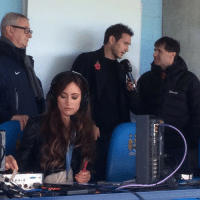 Memes, 🤖, and She: e  E-E-L- L- We're not sure what she does at Manchester City, but she looks good doing it... theladbible teamladbible funny manchester