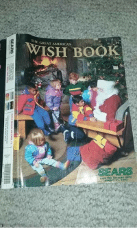 Memes, Sears, and 1992: E GREAT AMERICAN  W  ISH BOOK  1992  SEARS  SAve Th1s CATALOG USTR  AUG0锣31, 1293  SEARS  ENOUK NAGINS ON PAGE 12 Remember these? For more holiday, retro, and funny pictures go to... www.snowflakescottage.com