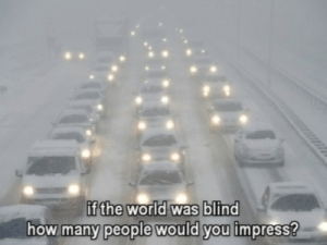 how many people: e.  if the world was blind  how many people would you impresS