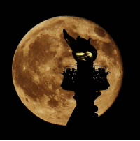 Memes, New York, and Moon: e ir  21 The torch on the Statue of Liberty silhouetted against the rising moon Sunday in New York City (📷: @garyhershorn)