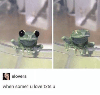 Love, Wholesome, and Feeling: E-lovers  when some1 u love txts u Overall Wholesome feeling