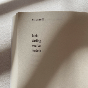 Darling, Made, and Look: e.russell  look  darling  you've  made it