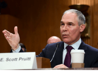 Head, Memes, and Images: E. Scott Pruitt  Ron Sachs/picture-alliance/dpa/AP Images BreakingNews: Senate confirms President DonaldTrump's pick to head the Environmental Protection Agency, Oklahoma Attorney General Scott Pruitt, voting 52-46 after heated debate.