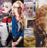Let me know, which is your favorite Harley Quinn look?!: e.  @THEBAT BRAND  4 Let me know, which is your favorite Harley Quinn look?!