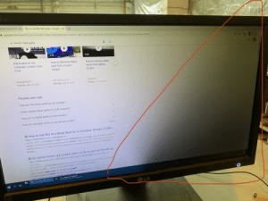 """Monitor at work place has weird dim area, what's the problem?: E2411  e US House of Re  X  G pc monitor dark spots - Google  X  A google.com/search?q%3DPC+monitor+dark+spots&oq%3pc+monitor+dark+spots&aqs=chrome.69i57j012.3127j0j98&sourceid%3Dchrome&ie-DUTF-8  pc monitor dark spots  ANIS BLA  8:16  2:38  5:29  Black spot on my  How to Remove Black  How to remove black  computer screen. How  spot from screent  Simple  spots from laptop  to fix.  screen  SquiggleMom  TECHNO LALA  Praixoffer  YouTube - Nov 19, 2018  YouTube - Aug 31. 2019  YouTube - Oct 30, 2017  People also ask  How do I fix black spots on my monitor?  What causes black spots on LCD screens?  How do I fix dead pixels on my monitor?  How do I fix black spots on my Iphone screen?  Feedback  O How to Get Rid of a Black Spot on a Computer Screen   It Still ...  https://itstillworks.com > Hardware  Sep 28, 2017 - The display screen on your computer will turn black. You will need to move the  window around to find the stuck pixel on the screen. Click on the """"Fix button and let the Web-  based service run a diagnostic test to find and revive broken pixels on your LCD computer  screen  O My laptop screen got a black patch on its screen (at the left top ...  https://www.quora.com > My-laptop-screen-got-a-black-patch-on-its-scree.  Jun 20, 2016- My computer screen just randomly got a black circular dot in the top left com  how can I fix this?  5 answers  How do I fix a black spot on a mutt laptop screen?  Feb 1, 2017  Why is there a black spot on my laptop's screen?  is there a way to fix black dots and stop them from spreading on ...  How to easily remove LCD screen black spots  pc monitor dark spot.  Aug 20, 2017  May 27 2018  L League of Legends  LG Monitor at work place has weird dim area, what's the problem?"""