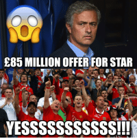 BREAKING: ManchesterUnited are going to bid £85 Million for HUGE star! 😳😱 Amazing Player!!! 🙌 Find Out Who.. ➡️ [LINK IN @footy.central's BIO]: E85 MILLION OFFER FOR STAR  YESSSSSSSSSSS!!! BREAKING: ManchesterUnited are going to bid £85 Million for HUGE star! 😳😱 Amazing Player!!! 🙌 Find Out Who.. ➡️ [LINK IN @footy.central's BIO]
