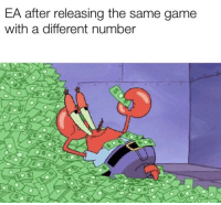 Game, Angry, and Different: EA after releasing the same game  with a different number Angry EA fans in 32,..1