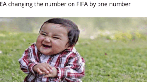 Fifa, True, and One: EA changing the number on FIFA by one number so true