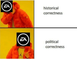 Guess, Historical, and Political Correctness: EA  historical  correctness  ZA  political  correctness Because reasons I guess