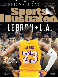 New Sports Illustrated with LeBron on the cover! https://t.co/z8KvBh5A26: -EA  S I I IONABLE 50E>  SPECIAL FLIP COVER  Odell Beckham Jr.  Must Be Seen  Sports  lustrated  LEBRNLA  IAKER  32  JAMES  WHY THE  MOVE WAS  MEANT TO BE  BY LEE JENKINS  PLUS  Going (Jerry) West:  On the Lure of the Lakers  BY JACK MCCALLUM  Kobe's Kinder,  Gentler Mission  BY LEE JENKINS  Photo Illustration by  BRYCE WOOD New Sports Illustrated with LeBron on the cover! https://t.co/z8KvBh5A26