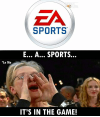 Football, Memes, and Sports: EA  SPORTS  E... A... SPORTS..  Le Me  IT'S IN THE GAME! True 😂 🔻FREE FOOTBALL EMOJIS ➡️ LINK IN OUR BIO! Credit : @thefootballarena