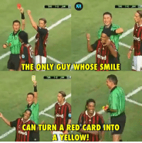 Memes, Ronaldinho, and Smile: EA  THE ONLY GUY WHOSE SMILE  CAN TURN A RED CARD INTO  A YELLOW  ihvd Ronaldinho 😁