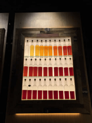 Whiskey, One, and For: Each bottle is the same whiskey matured in the cask for one more year than the last