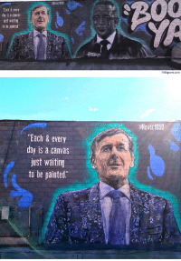 "Memes, Paintings, and Canvas: Each & every  day is a canvas  just waiting  to be painted  TMZsports.com   ""Each & every  day is a canvas  just waiting  to be painted.  aNever1959 RT @AthleteSwag: LA artist honors Craig Sager with mural next to Stuart Scott"