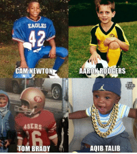 Aaron Rodgers, Cam Newton, and Philadelphia Eagles: EAGLES  42  CAM NEWTON  AARON RODGERS  NEL  MEME  GUY  ASERS  TOM BRADY  AQIB TALIB NFL stars as kids. 🤣🤣🤣 https://t.co/ttEm1wlJup