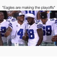 "Eagles fans got jokes 😂 DallasCowboys CowboysNation ✭: ""Eagles are making the playoffs""  @allthingscowboys Eagles fans got jokes 😂 DallasCowboys CowboysNation ✭"