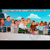 Chip Kelly, Meme, and Memes: EAGLES FANS SAYING GOODBYE TO CHIP KELLY LIKE  @NFL MEMES