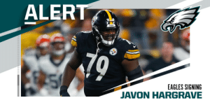 Eagles to sign DT Javon Hargrave to three-year, $39M deal, making him the highest-paid nose tackle in the NFL. (via @RapSheet) https://t.co/bKymCAKZMa: Eagles to sign DT Javon Hargrave to three-year, $39M deal, making him the highest-paid nose tackle in the NFL. (via @RapSheet) https://t.co/bKymCAKZMa