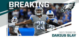Eagles trading for Lions CB Darius Slay. (via @rapsheet) https://t.co/rPoefsqVGe: Eagles trading for Lions CB Darius Slay. (via @rapsheet) https://t.co/rPoefsqVGe