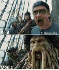 Beautiful, Memes, and Pirates: eal  . IGI@Mouies.Effects  Mouie How Many likes for Beautiful Davy Jones from Pirates of the Caribbean:Dead Man's Chest (2006) ‧ After-Before Effects. Tag a friend Director: Gore Verbinski piratesofcarribean director VFx art johnnydepp davyjones filmmaking behindthescenes