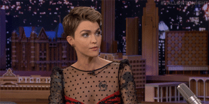 Even Batwoman has a weakness. Ruby Rose describes her allergic reaction to her own superhero suit while filming.: EALLONTONiGHT Even Batwoman has a weakness. Ruby Rose describes her allergic reaction to her own superhero suit while filming.