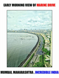 maharashtra: EARLY MORNING VIEW MARINE DRIVE  MUMBAI, MAHARASHTRA  INCREDIBLE INDIA