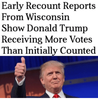 "PC: @liberalbull_ AP reports, ""President-elect Donald Trump narrowly defeated Democratic candidate Hillary Clinton in both states and Wisconsin, which started its recount last week. The recounts requested by Green Party presidential candidate Jill Stein were not expected to change enough votes to overturn the result of the election. Stein, who received about 1 percent of the vote in all three states, says her intent is to verify the accuracy of the vote.She has suggested, with no evidence, that votes cast were susceptible to computer hacking.Trump had widened his victory margin over Clinton in Wisconsin by 146 votes, with 23 of the state's 72 counties having finished their recounts as of Tuesday. In those counties, Trump gained 105 votes and Clinton dropped 41 votes.Trump defeated Clinton in Wisconsin by about 22,000 votes."" jillstein greenparty liberals libbys libtards liberallogic liberal ccw247 conservative constitution presidenttrump nobama stupidliberals merica america stupiddemocrats donaldtrump trump2016 patriot trump yeeyee presidentdonaldtrump draintheswamp makeamericagreatagain trumptrain maga Add me on Snapchat and get to know me. Don't be a stranger: thetypicallibby Partners: @tomorrowsconservatives 🇺🇸 @too_savage_for_democrats 🐍 @thelastgreatstand 🇺🇸 @always.right 🐘 TURN ON POST NOTIFICATIONS! Make sure to check out our joint Facebook - Right Wing Savages Joint Instagram - @rightwingsavages Joint Twitter - @wethreesavages Follow my backup page: @the_typical_liberal_backup: Early Recount Reports  From Wisconsin  Show Donald Trump  Receiving More Votes  Than Initially Counted PC: @liberalbull_ AP reports, ""President-elect Donald Trump narrowly defeated Democratic candidate Hillary Clinton in both states and Wisconsin, which started its recount last week. The recounts requested by Green Party presidential candidate Jill Stein were not expected to change enough votes to overturn the result of the election. Stein, who received about 1 percent of the vote in all three states, says her intent is to verify the accuracy of the vote.She has suggested, with no evidence, that votes cast were susceptible to computer hacking.Trump had widened his victory margin over Clinton in Wisconsin by 146 votes, with 23 of the state's 72 counties having finished their recounts as of Tuesday. In those counties, Trump gained 105 votes and Clinton dropped 41 votes.Trump defeated Clinton in Wisconsin by about 22,000 votes."" jillstein greenparty liberals libbys libtards liberallogic liberal ccw247 conservative constitution presidenttrump nobama stupidliberals merica america stupiddemocrats donaldtrump trump2016 patriot trump yeeyee presidentdonaldtrump draintheswamp makeamericagreatagain trumptrain maga Add me on Snapchat and get to know me. Don't be a stranger: thetypicallibby Partners: @tomorrowsconservatives 🇺🇸 @too_savage_for_democrats 🐍 @thelastgreatstand 🇺🇸 @always.right 🐘 TURN ON POST NOTIFICATIONS! Make sure to check out our joint Facebook - Right Wing Savages Joint Instagram - @rightwingsavages Joint Twitter - @wethreesavages Follow my backup page: @the_typical_liberal_backup"