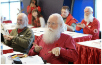 Fall, Mood, and News: earth-empress: kiriamaya:  theblogofeternalstench:  New skills: Santas brush up on their sign language during a Santa School held recently at Royal City Centre. The Santas return to school each fall to fine-tune their skills for the holidays.    omg this makes me so happy.  something to help lighten the mood tonight