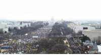Donald Trump's inauguration vs the DC Women's March. Both taken at 12:45: EarthCam Donald Trump's inauguration vs the DC Women's March. Both taken at 12:45