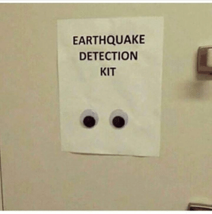 You know it to be true: EARTHQUAKE  DETECTION  KIT You know it to be true