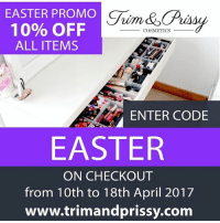 Easter is around the corner . Shop for all your makeup online with Nigeria's 1st Luxury makeup brand . 10% discount valid till 18th April Visit @trimandprissy to take advantage of this offer.: EASTER PROMO  10% OFF  COSMETICS  ALL ITEMS  ENTER CODE  EASTER  ON CHECKOUT  from 10th to 18th April 2017  www.trimand prissy.com Easter is around the corner . Shop for all your makeup online with Nigeria's 1st Luxury makeup brand . 10% discount valid till 18th April Visit @trimandprissy to take advantage of this offer.