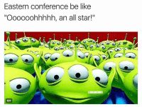 "All Star, Basketball, and Be Like: Eastern conference be like  ""Oooooohhhhh, an all star!""  @NBAMEMES  GIF 😂😂😂 (via dom_2k-twitter) nba gordonhayward celtics nbamemes"