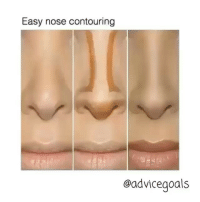 Easy nose contouring  oadvice goals Follow @advicegoals for the most amazing how to's and helpful posts!❤️ ••• 💜 @advicegoals 💚 @advicegoals 💙 @advicegoals •••