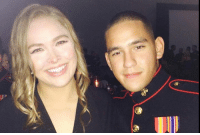 Memes, Ronda Rousey, and Social Media: easy ways RONDA ROUSEY - A TRUE HERO  This post will probably get negative comments and that's okay.  Military Luggage Company isn't concerned about always saying or doing the popular thing.  The popular thing right now seems to be bashing Ronda and making fun of her for her loss.  Just a little over a year ago this woman who everyone is making fun of made the dream of a young Marine come true by being his date at a Marine Ball.  She made this very public appearance just a month after her stunning loss.  She could have backed out.  But she showed just how much courage and character she has by keeping her word.  That kind of courage is far more valuable than any courage needed for a MMA fight.  Ronda if you ever see this post please know that you made someone fighting for our country very happy and we will always hold you in the highest regard for that.  Whatever motivated you to accept his invitation, the thing we admire the most is you kept your word even after you lost.  That makes you a million times more of a person than any loser mouthing off on social media so they can feel better about their sad life.  That is all.  Nothing follows.