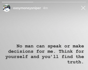 Free, Decisions, and Truth: easymoneysniper 4m  No man can speak or make  decisions for me. Think for  yourself and you'l1 find the  truth KD speaks on free agency 👁🗨