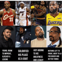 Memes, Goat, and Legacy: EAT  EVELAND  23  wish  AKERS  YOUNG, ROOM  TO IMPROVE,  ALREADY A  LEGEND  SOL  JUST ADDING  IDIFIED  HIS PLACE  NOTHING LEFT TO  PROVE, WENT TO LA  GREATNESS  AND LEGACY  FOR BIGGER AND  BETTER THINGS  ASA GOAT faxxx ? (Follow @bars for more )