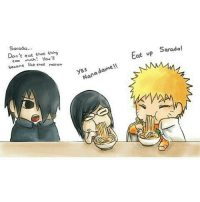 Since the begining of this manga😂 🐼 🐼 🐼 🐼: Eat up Sarada!  dame y M  Nana M  Sarada  Don't eat that thins  Eco  much! You'll  become  like that moron Since the begining of this manga😂 🐼 🐼 🐼 🐼