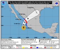 America, Andrew Bogut, and Ironic: EATA  Note: The cone contains the probable path of the storm center but does not show  the size of the storm. Hazardous conditions can occur outside of the cone.  LA  30N  12 AM  12 AM Wed  25N  ico  12 PM Tue  12 AM Tue  20N  xico  6 AM Mon  Guatemala  Salvad  115W  110W  105W  100W  95W  90W  Hurricane Willa  Monday October 22, 2018  6 AM MDT Intermediate Advisory 9A  NWS National Hurricane Center  Current information: xForecast positions:  Center location 18.7 N 107.3 W  Maximum sustained wind 155 mph Sustained winds  Movement N at 7 mph  Tropical Cyclone O Post/Potential TO  : D39 mph  S 39-73 mph H 74-110 mph M> 110 mph  Potential track area Watches:  Warnings:  Current wind extent:  Day 1-3 Day 4-5Hurricane Trop StmHurricaneTrop Stm Hurriane Trop Stnm