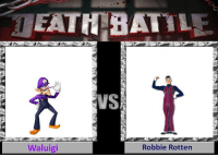 Who will win!?  - Nightwing and Red Hood the meme loving heroes: EATH BATTL  Waluigi  Robbie Rotten Who will win!?  - Nightwing and Red Hood the meme loving heroes