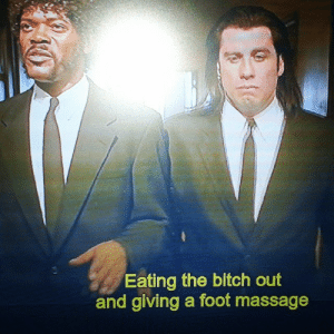 Bitch Out: Eating the bitch out  and giving a foot massage