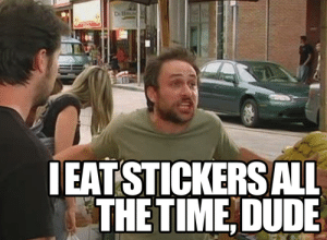 Dude, Memes, and 🤖: EATSTICKERSALL  THETIME, DUDE