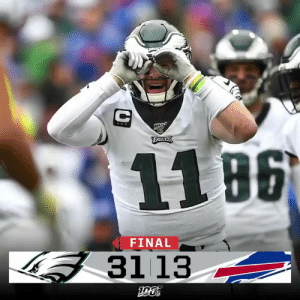 FINAL: The @Eagles earn the W in Buffalo! #PHIvsBUF #FlyEaglesFly https://t.co/xbr2Qcx42K: EAULES  11 B6  FINAL  3113 FINAL: The @Eagles earn the W in Buffalo! #PHIvsBUF #FlyEaglesFly https://t.co/xbr2Qcx42K