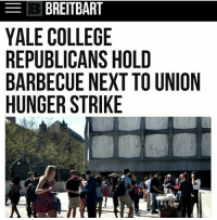 "https:-www.google.com-amp-www.foxnews.com-us-2017-04-28-yale-grad-students-hunger-strike-apparently-involves-eating-when-hungry.amp.html ampshare=http:-www.foxnews.com-us-2017-04-28-yale-grad-students-hunger-strike-apparently-involves-eating-when-hungry.html EXCERPT: Yale doctoral students currently earn a stipend $30,000 a year, receive free health care, and have their $40,000 tuition paid in full, according to Yale News. The university administration said in a statement that they understood the students concerns, but ""strongly [urge] that students not put their health at risk or encourage others to do so."" As it turns out, the hunger strike might not put anyone's health in peril. According to a pamphlet posted on Twitter by a former Yale student, the hunger strike is ""symbolic"" and protesters can leave and get food when they can no longer go on. irony buttfuckit deportcorpsman: EB BREITBART  YALE COLLEGE  REPUBLICANS HOLD  BARBECUE NEXT TO UNION  HUNGER STRIKE https:-www.google.com-amp-www.foxnews.com-us-2017-04-28-yale-grad-students-hunger-strike-apparently-involves-eating-when-hungry.amp.html ampshare=http:-www.foxnews.com-us-2017-04-28-yale-grad-students-hunger-strike-apparently-involves-eating-when-hungry.html EXCERPT: Yale doctoral students currently earn a stipend $30,000 a year, receive free health care, and have their $40,000 tuition paid in full, according to Yale News. The university administration said in a statement that they understood the students concerns, but ""strongly [urge] that students not put their health at risk or encourage others to do so."" As it turns out, the hunger strike might not put anyone's health in peril. According to a pamphlet posted on Twitter by a former Yale student, the hunger strike is ""symbolic"" and protesters can leave and get food when they can no longer go on. irony buttfuckit deportcorpsman"