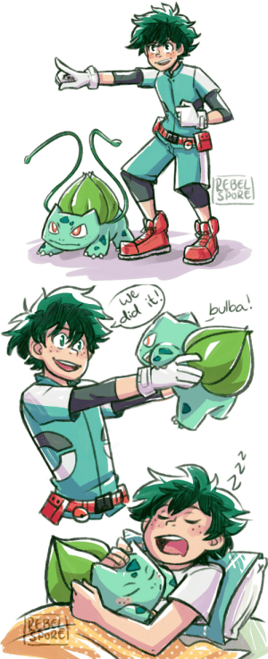 Bulbasaur, Target, and Tumblr: EBEL  SPORE   did it  bulba rebel-spore:  no offense but izuku would totally have a bulbasaur